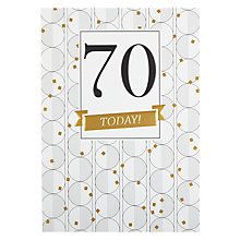 Buy Art File Age 70th Birthday Card Online at johnlewis.com