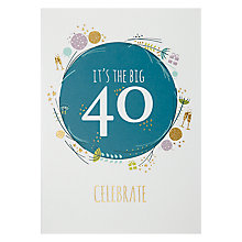 Buy Art File Age 40 Greeting Card Online at johnlewis.com