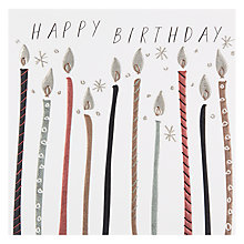 Buy Belly Button Designs Candles Birthday Card Online at johnlewis.com