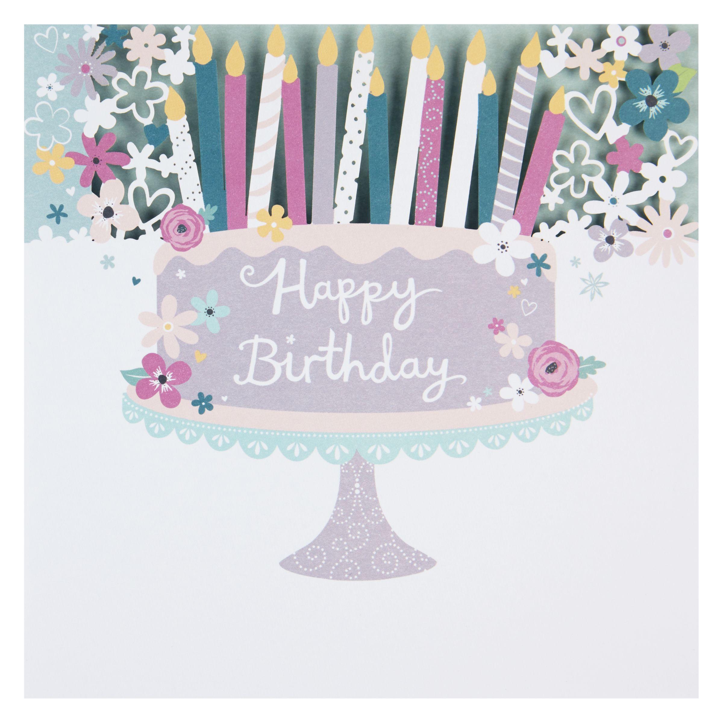 Birthday Cake John Lewis : Buy Paperlink Cake and Candles Birthday Card John Lewis