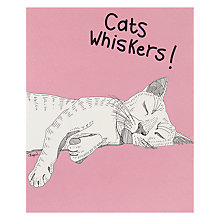 Buy Really Good Cat Whiskers Greeting Card Online at johnlewis.com
