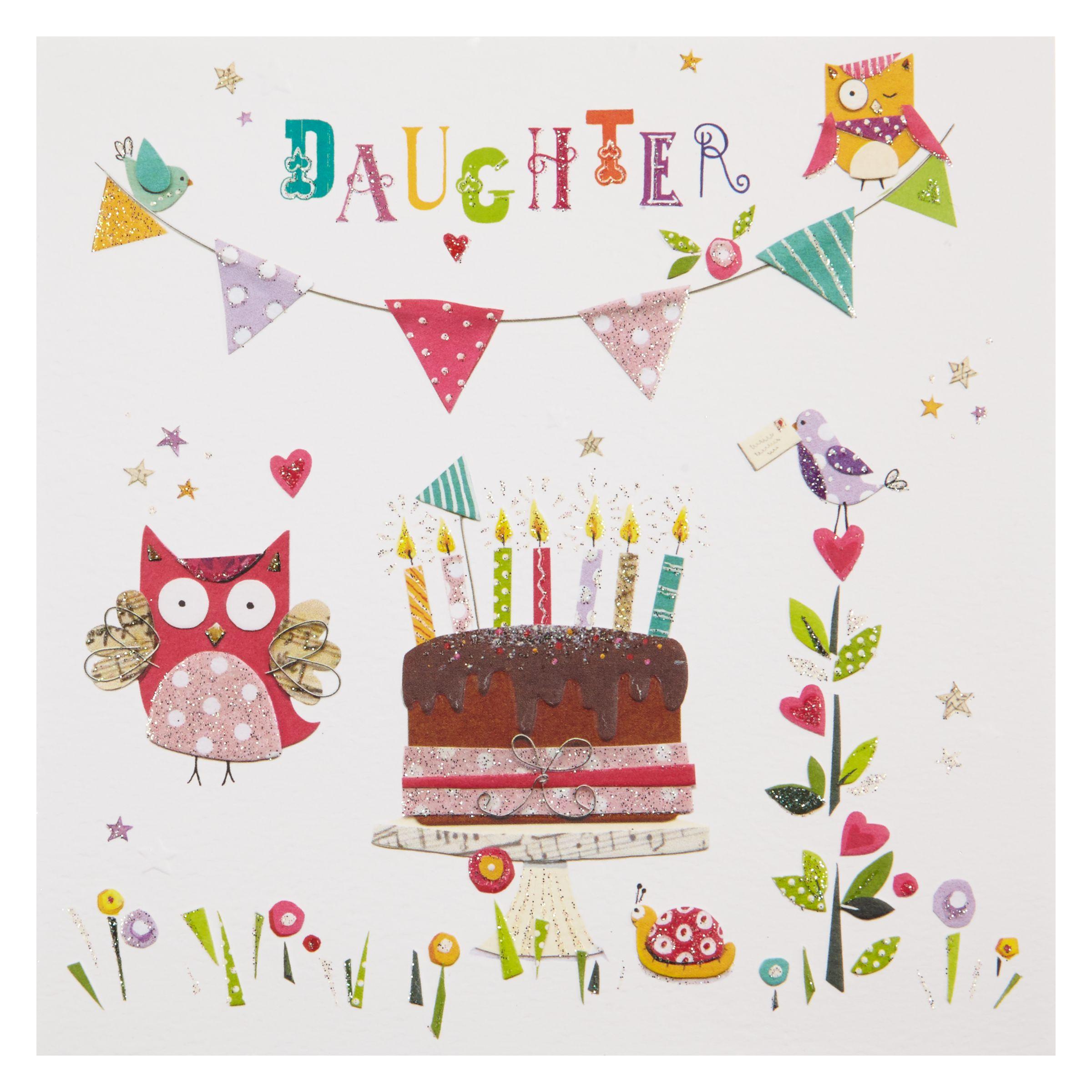Birthday Cake John Lewis : Buy Mint Daughter Cake Birthday Card John Lewis