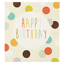 Buy Caroline Gardner Cream Spots Greeting Card Online at johnlewis.com