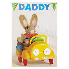 Buy Paper Rose Daddy's Yellow Cab Birthday Card Online at johnlewis.com