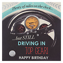 Buy Hotchpotch Driving In Top Gear Birthday Card Online at johnlewis.com