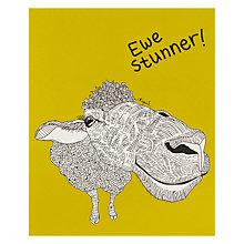 Buy Really Good Ewe Stunner Greeting Card Online at johnlewis.com