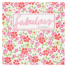 Buy Saffron Fabulous Birthday Card Online at johnlewis.com