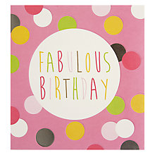 Buy Caroline Gardner Pink Spots Birthday Card Online at johnlewis.com