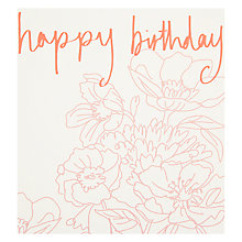 Buy Caroline Gardner Happy Birthday Floral Greeting Card Online at johnlewis.com