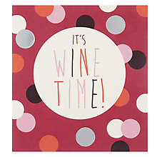 Buy Caroline Gardner It's Wine Time Greeting Card Online at johnlewis.com