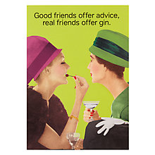 Buy Cath Tate Offer Gin Greeting Card Online at johnlewis.com