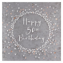 Buy Belly Button Designs 50th Birthday Card Online at johnlewis.com