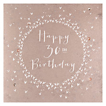 Buy Belly Button Designs 30th Birthday Card Online at johnlewis.com