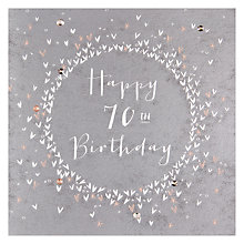 Buy Belly Button Designs 70th Birthday Card Online at johnlewis.com