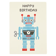 Buy James Ellis Stevens Robot Retro Birthday Card Online at johnlewis.com