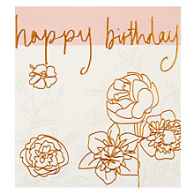 Buy Caroline Gardner Multi Flowers Greeting Card Online at johnlewis.com