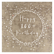 Buy Belly Button Designs 100th Birthday Card Online at johnlewis.com