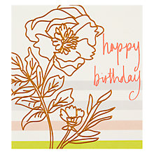 Buy Caroline Gardner Single Flower Greeting Card Online at johnlewis.com