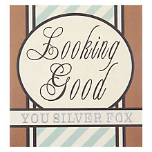 Buy Caroline Gardner Silver Fox Birthday Card Online at johnlewis.com