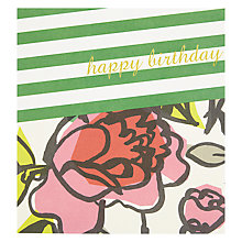 Buy Caroline Gardner Stripes And Floral Greeting Card Online at johnlewis.com