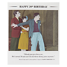 Buy Card Mix 30th Birthday Card Online at johnlewis.com