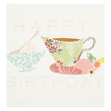 Buy Caroline Gardner Tea Birthday Card Online at johnlewis.com