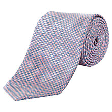 Buy Jaeger Dogstooth Silk Tie, Pale Pink Online at johnlewis.com