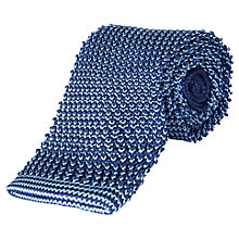 Buy Jaeger Knit Pinpoint Silk Tie, Navy Online at johnlewis.com