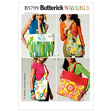 Buy Butterick Accessories Bags Sewing Pattern, 5799, One Size Online at johnlewis.com