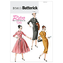 Buy Butterick Retro Women's Dress Sewing Pattern, 5813 Online at johnlewis.com