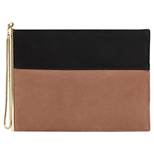 Buy Reiss Cindy Two Tone Zip Clutch Bag, Pink Online at johnlewis.com