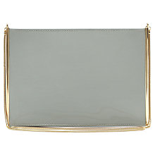 Buy Reiss Kane Patent Compartment Handbag Online at johnlewis.com