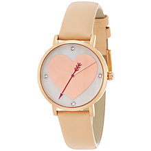 Buy kate spade new york 1YRU0699 Women's Novelty Metro Leather Strap Watch, Nude/Gold Online at johnlewis.com