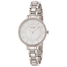 Buy kate spade new york 1YRU0691 Women's Gramercy Skinny Stainless Steel Bracelet Watch, Silver Online at johnlewis.com