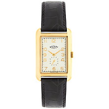 Buy Rotary Men's Portland Leather Strap Watch Online at johnlewis.com