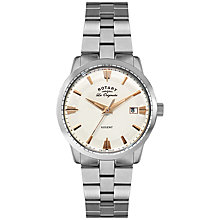 Buy Rotary GB90112/06 Men's Regent Bracelet Watch, Silver Online at johnlewis.com