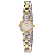 Buy kate spade new york 1YRU0722 Women's Tiny Pave Gramercy Watch, Silver/Gold Online at johnlewis.com