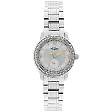 Buy Rotary LB02700/41 Women's Cambridge Stainless Steel Bracelet Watch, Silver Online at johnlewis.com