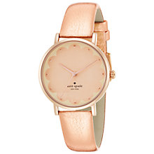 Buy kate spade new york 1YRU0498 Metro Leather Strap Watch, Pink/Gold Online at johnlewis.com