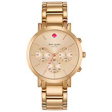 Buy kate spade new york 1YRU0716 Women's Gramercy Grand Chronograph Watch, Rose Gold Online at johnlewis.com