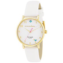Buy kate spade new york 1YRU0765 Women's Novelty Metro 5 O'Clock Watch, White Online at johnlewis.com