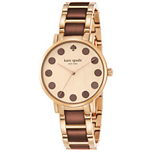 Buy kate spade new york 1YRU0768 Women's Gramercy Dot Watch, Gold/Brown Online at johnlewis.com