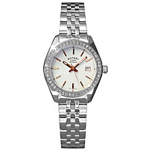 Buy Rotary LB90110/21 Women's Lausanne Stainless Steel Bracelet Strap Watch, Silver Online at johnlewis.com