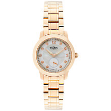Buy Rotary LB02702/41 Women's Cambridge Stainless Steel Bracelet Watch, Rose Gold Online at johnlewis.com