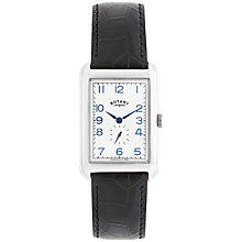 Buy Rotary Men's Portland Stainless Steel Leather Strap Watch Online at johnlewis.com