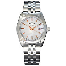 Buy Rotary Men's Lausanne Stainless Steel Bracelet Watch Online at johnlewis.com