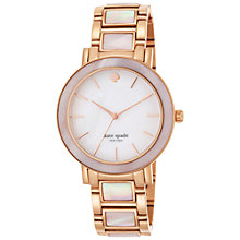 Buy Kate Spade 1YRU0396 Gramercy Grand Bracelet Watch, Rose Gold/Mother of Pearl Online at johnlewis.com