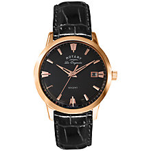 Buy Rotary GS90112/06 Men's Regent Stainless Steel Leather Strap Watch Online at johnlewis.com