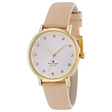 Buy kate spade new york 1YRU0586 Metro Leather Strap Watch, Nude/Mother of Pearl Online at johnlewis.com