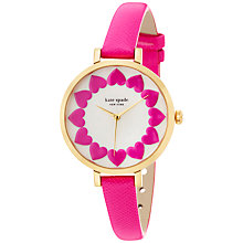Buy kate spade new york 1YRU0676 Women's Novelty Metro Leather Strap Watch, Pink/Gold Online at johnlewis.com